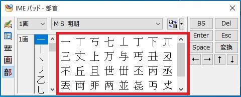 対象の漢字の画像