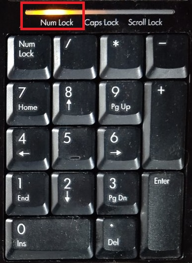 NumLockキーの状態の画像